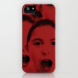 Shout, shout, let it all red iPhone Case