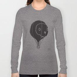 Hot Air Balloon Skull Long Sleeve T-shirt