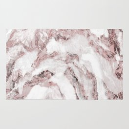 White and Pink Marble Mountain 01 Rug