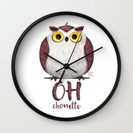 Oh chouette ! Wall Clock