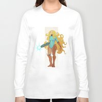 samus Long Sleeve T-shirts featuring Samus by Tim Kaminski