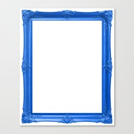 Blue Antique Frame Canvas Print