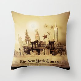 New York City Skyline 1 | Sculpture Photo Throw Pillow