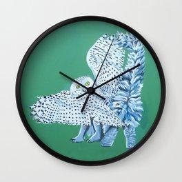 Cat Owl Wall Clock