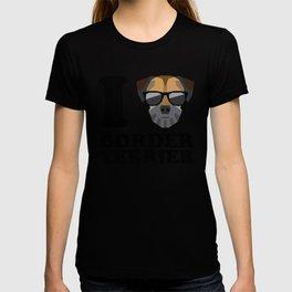 I Love Border Terrier modern v1 T-shirt