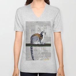Ring tailed lemur Unisex V-Neck