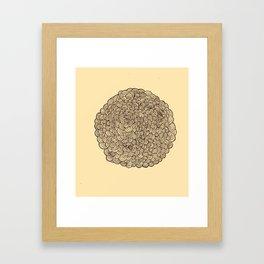 half round Framed Art Print