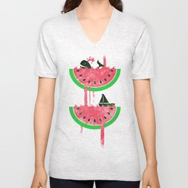 Watermelon falls Final Unisex V-Neck