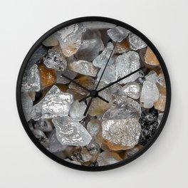 Singing beach sand under a microscope Wall Clock