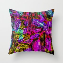 Tropic Abstract Throw Pillow
