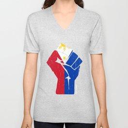 Team  Philippines Flag T Shirt Unisex V-Neck