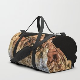 Fire and Ice Citrine crystals Duffle Bag