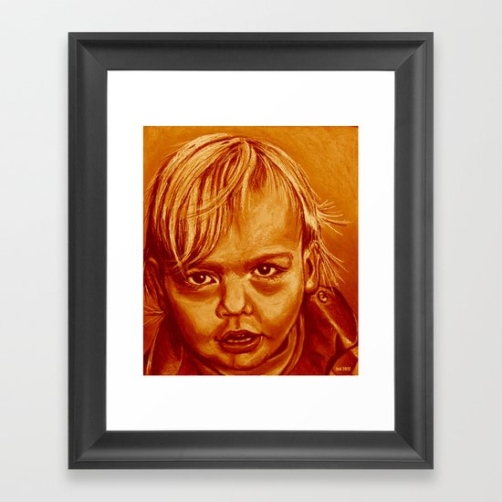 miguelito option two! Framed Art Print