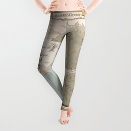 Map of Hogwarts Leggings