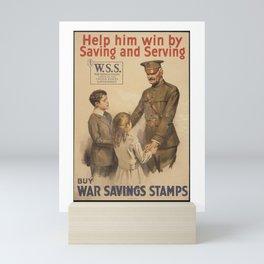 Vintage US War Savings Stamps Mini Art Print