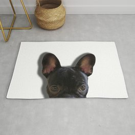 French Bulldog Peekaboo Rug