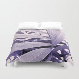 Purple Palm Duvet Cover