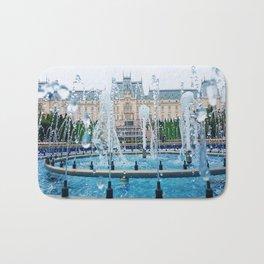 blue palace fountain Bath Mat