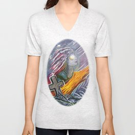 Siren of the storm Unisex V-Neck