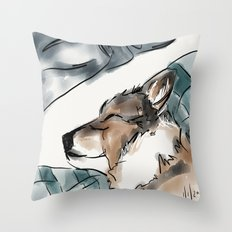 Charles Blue Throw Pillow