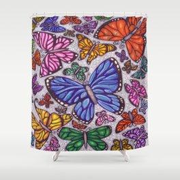 Flutterby Filligree Shower Curtain
