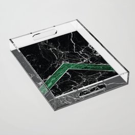 Arrows - Black Granite & Green Granite #269 Acrylic Tray