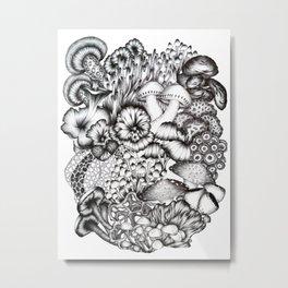 A Medley of Mushrooms Metal Print
