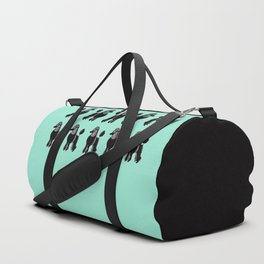 Black Standard Poodles with Mint Duffle Bag