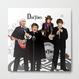 The Doctor Who Band Classic series iPhone 4 4s 5 5c 6 7, pillow case, mugs and tshirt Metal Print