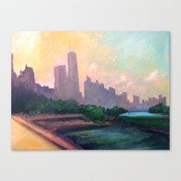 Skyline Sunset Canvas Print