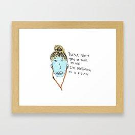 pod girl Framed Art Print