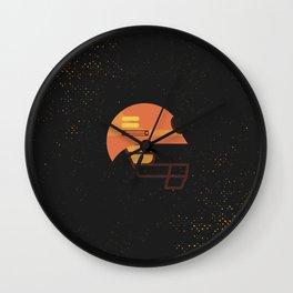 Minimal Retro Cricket Helmet Wall Clock