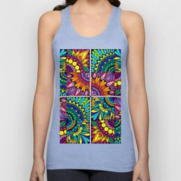 Color Block Puzzle Mandalas Unisex Tank Top