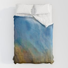 Raining Rivers of Sky: Abstract Painting Comforters