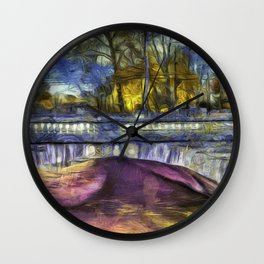 The Headless Horseman Bridge Van Gogh Wall Clock
