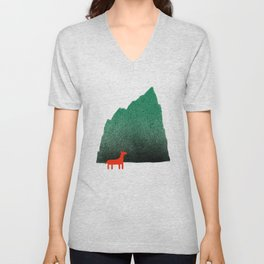 Man & Nature - Island #1 Unisex V-Neck