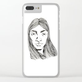 tell me about it Clear iPhone Case