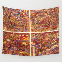 carnival Wall Tapestries featuring carnival by Rachna Radar