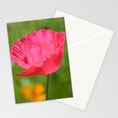 Pink Poppy Flower Stationery Cards