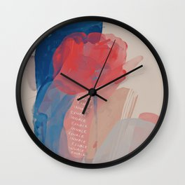 Inhale, Exhale - Abstract Wall Clock