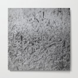 Hay farming Metal Print