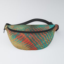 Red and Turquoise Weave Fanny Pack