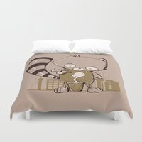 groot Duvet Covers featuring Grow Groot by Manfred Maroto