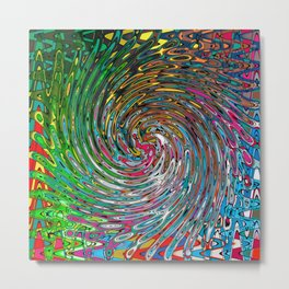 Vortex of Colours Metal Print