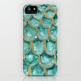 Emerald Mermaid Skin iPhone Case