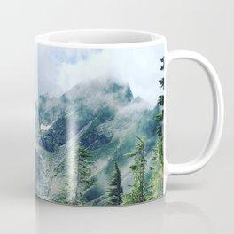 Mountain through the clouds Coffee Mug