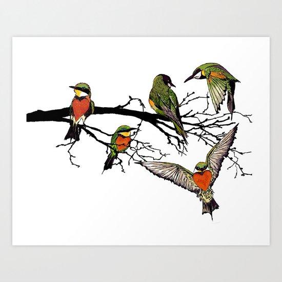 bee-eaters Art Print
