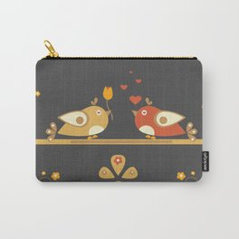 Love Bird Tree Carry-All Pouch