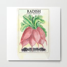 Radish Seed Packet Metal Print