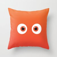 pixar Throw Pillows featuring PIXAR CHARACTER POSTER - Nemo 2 - Finding Nemo by Marco Calignano